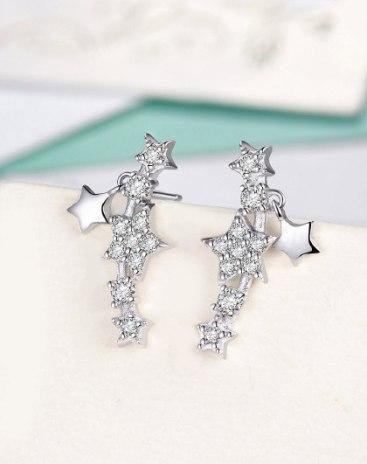 White Star Earrings