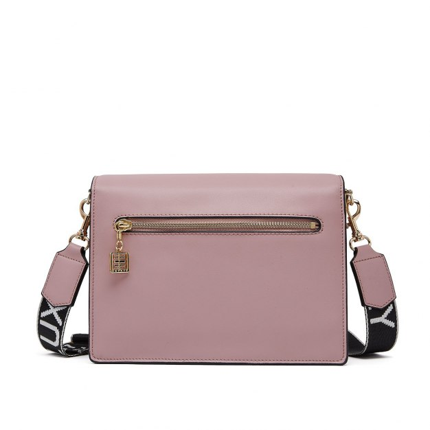 Pink Cowhide Leather Organ Bag Small Women's Crossbody Bag