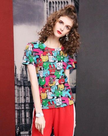 Colourful Short Sleeve Standard Women's T-Shirt