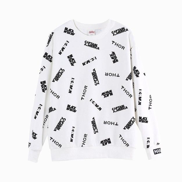 Round Neck Long Sleeve Loose Women's Sweatshirt