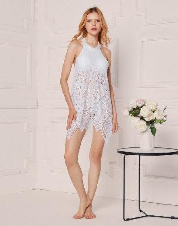 White Lace Standard Women's Sleepwear