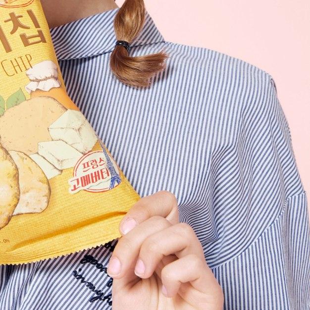 Lapel One Botton Long Sleeve Loose Women's Shirt
