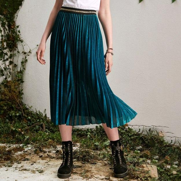 Blue 3/4 Length Women's Skirt