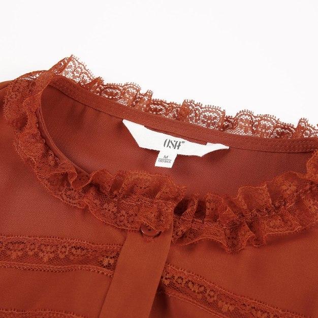 Plain Single Breasted Long Sleeve Standard Women's Shirt