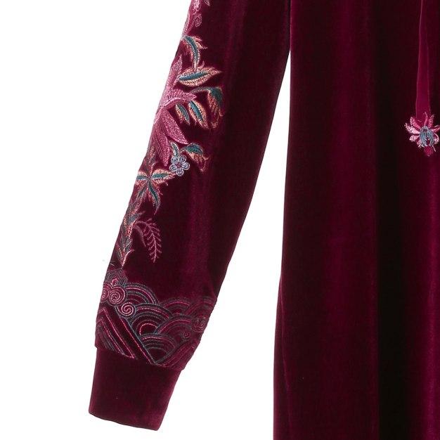Red Hoodie Sleeve 3/4 Length Pencil Skirt Women's Dress