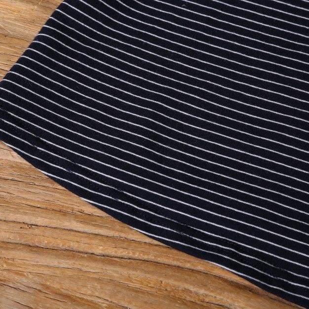 Blue V Neck 3/4 Sleeve Standard Women's T-Shirt