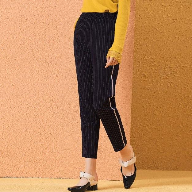 High Waist Paneled Long Women's Pants