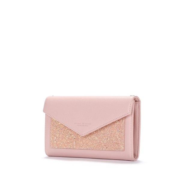 Pink PU Small Women's Wristlet