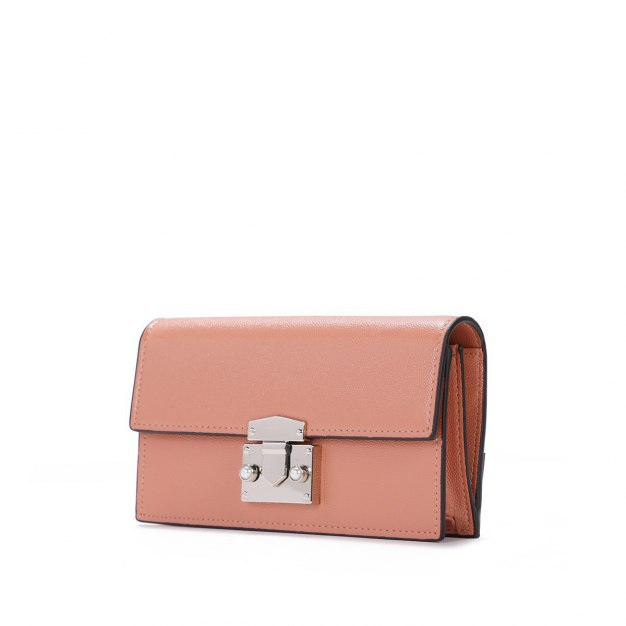 Pink PU Small Plain Women's Wristlet