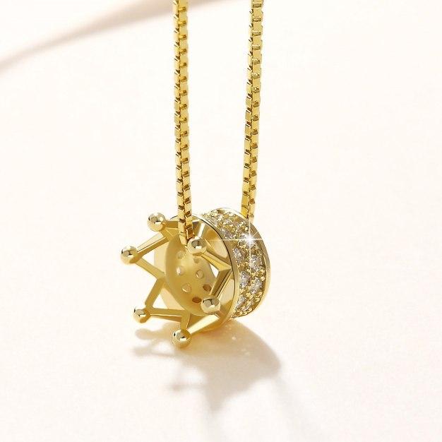 Gold Crown Pendant