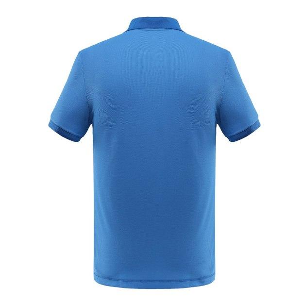 Blue Short Sleeve Quick Drying Men's T-Shirt