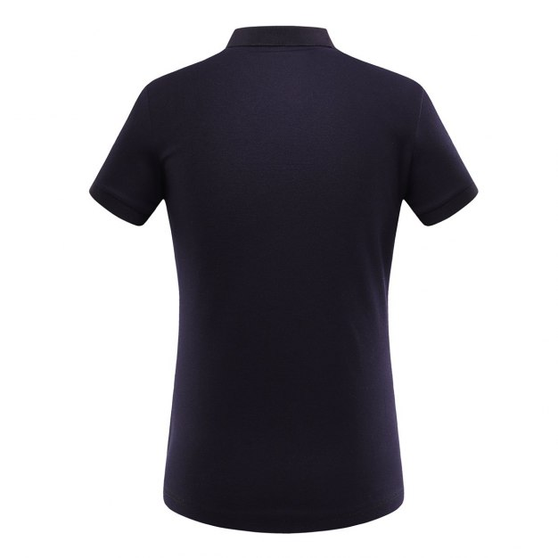 Black Lapel Short Sleeve Quick Drying Women's T-Shirt
