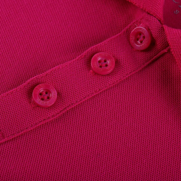 Red Lapel Short Sleeve Quick Drying Women's T-Shirt