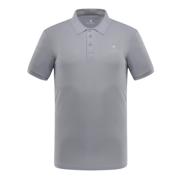 Gray Short Sleeve Quick Drying Men's T-Shirt