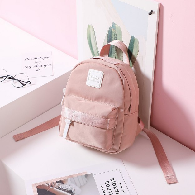 Pink Oxford Cloth Small Women's Backpack