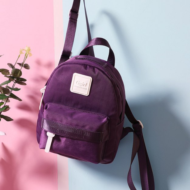 Purple Oxford Cloth Small Women's Backpack