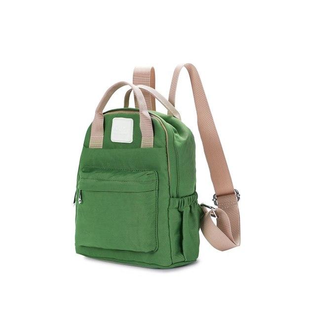Green Oxford Cloth Medium Plain Women's Backpack