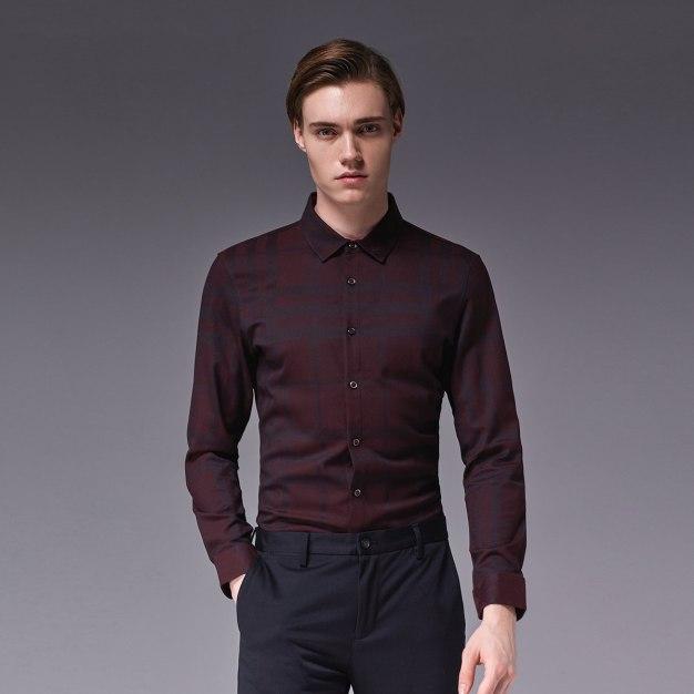Square Neck Long Sleeve Standard Men's Shirt