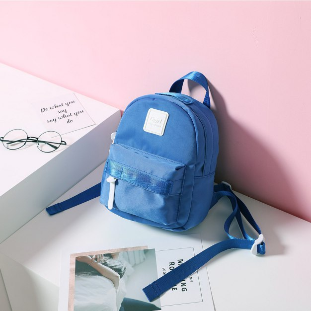 Blue Oxford Cloth Small Women's Backpack