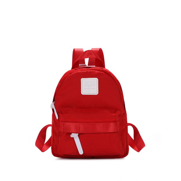 Red Oxford Cloth Small Women's Backpack