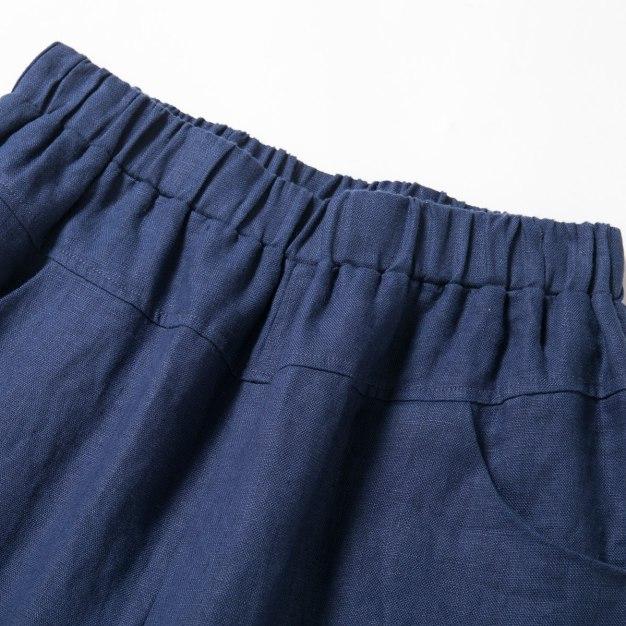 Indigo Cropped Women's Pants