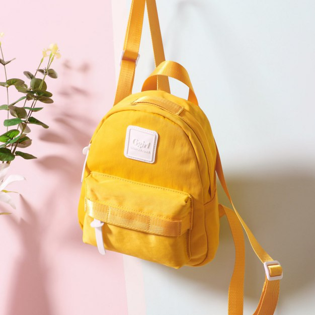Yellow Oxford Cloth Small Women's Backpack