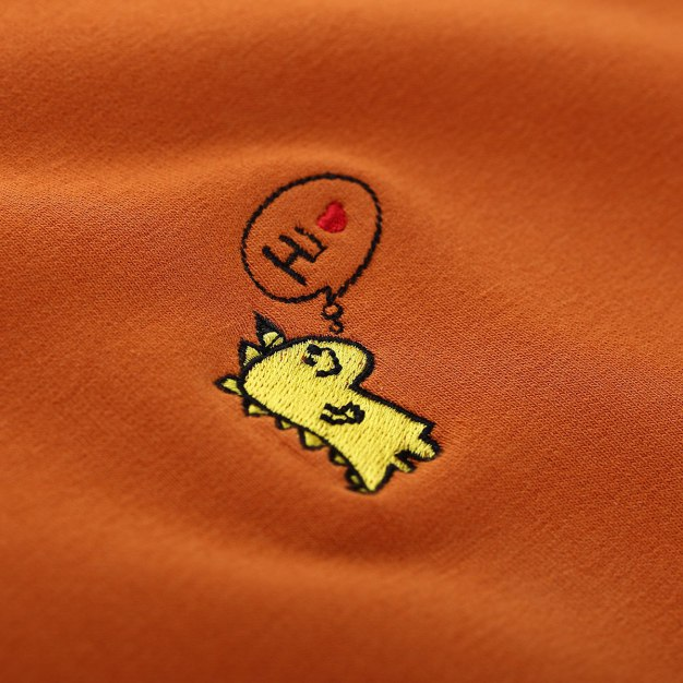 Yellow Round Neck Long Sleeve Women's T-Shirt