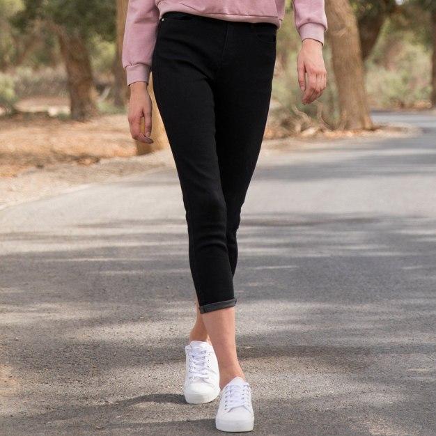Black High Waist Women's Jeans