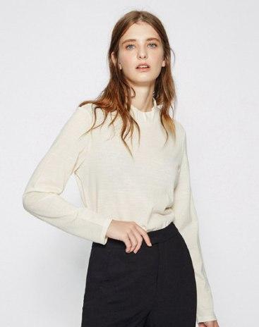 Half High Collar Elastic Long Sleeve Standard Women's Sweater