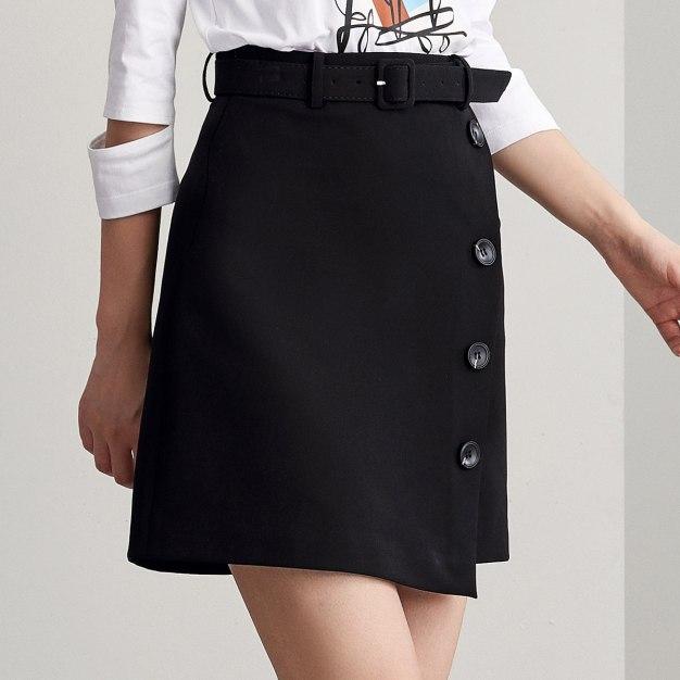 Black Women's A Line Skirt