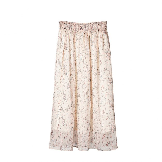 High Waist 3/4 Length Women's Skirt
