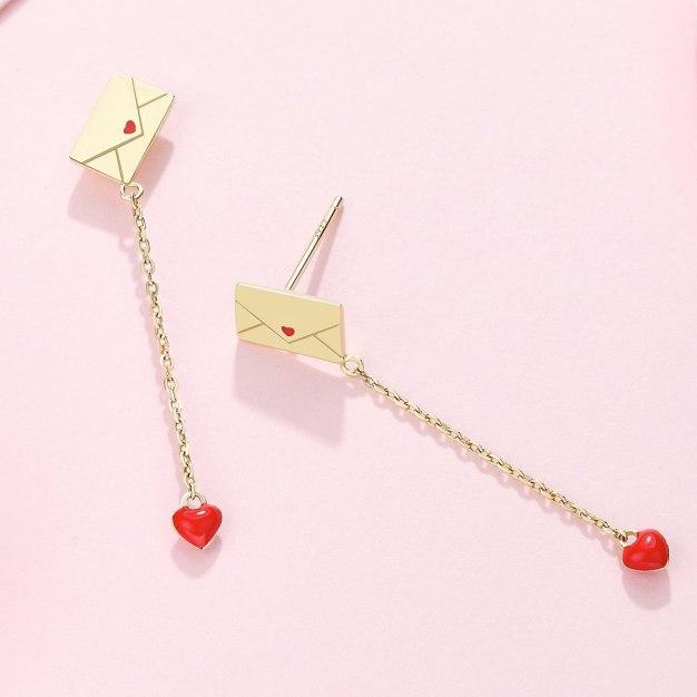 Gold Sweetheart Earrings