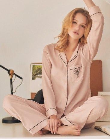 Pink Polyester Standard Women's Loungewear