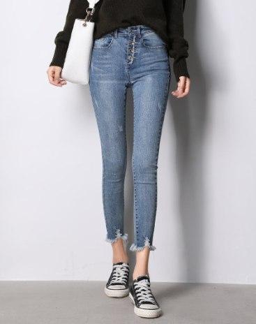 Blue  Rough Selvedge  Women's  Jeans