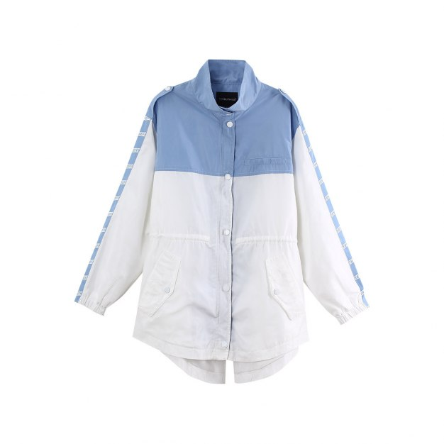 Stand Collar Loose Long Sleeve Women's Windbreaker