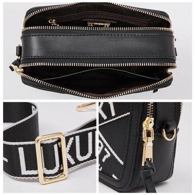 Black Cowhide Leather Pig Bag Mini Women's Crossbody Bag