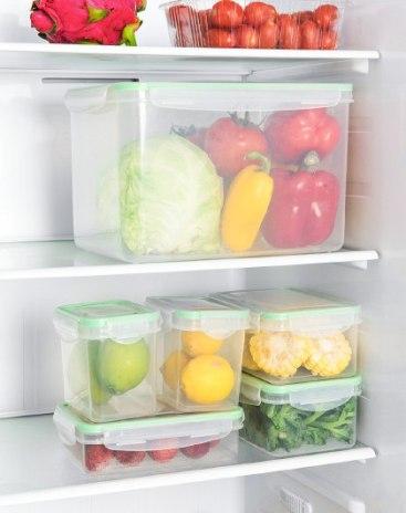 Plastic Not heated 1 level Crisper Lunch Boxes