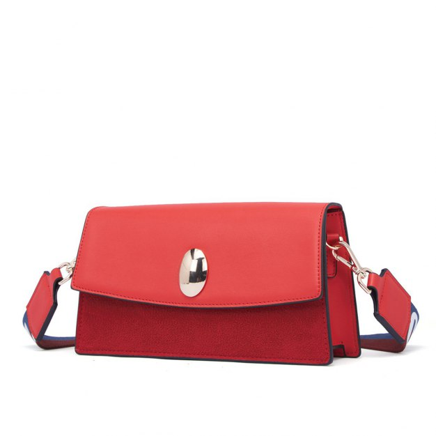 Red Cowhide Leather Pig Bag Mini Women's Crossbody Bag