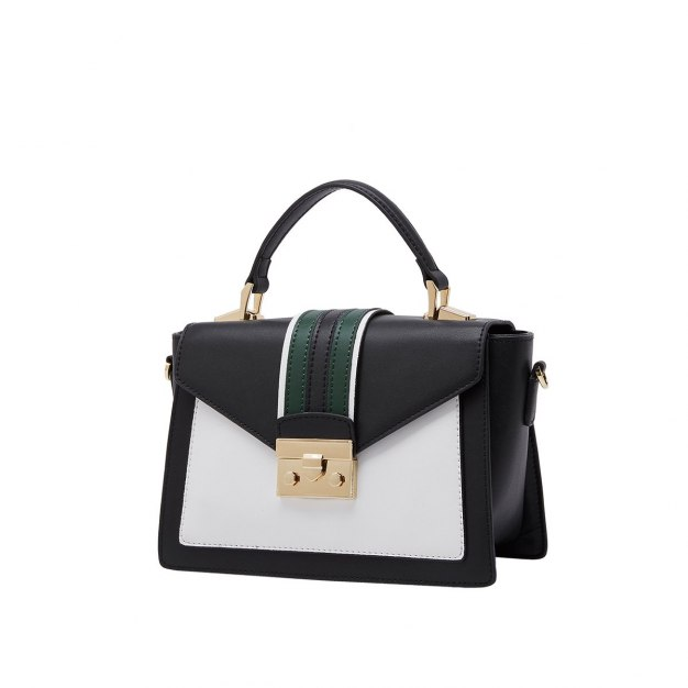 White Plain Cowhide Leather Small Women's Tote