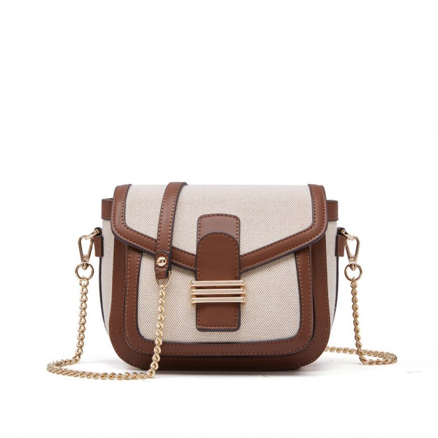 Brown Plain Pig Bag Small Women's Crossbody Bag