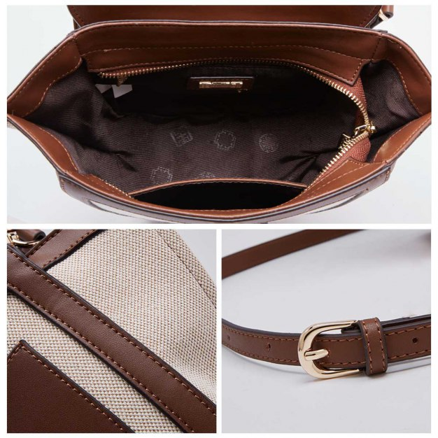 Brown Plain Woven Bag Small Women's Crossbody Bag