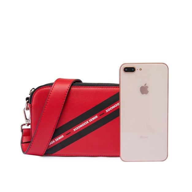 Red PU Mini Women's Crossbody Bag