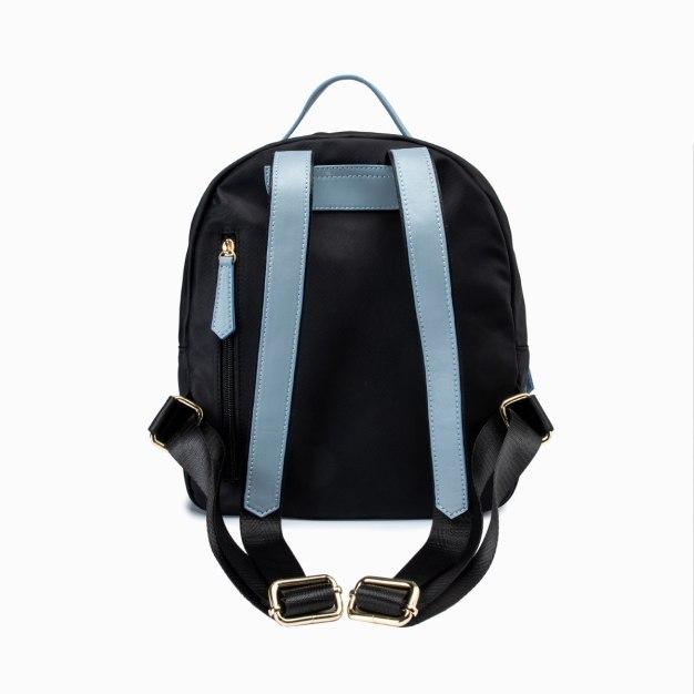 Black PU Small Plain Women's Backpack