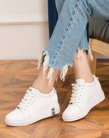 Black Middle Heel Women's Casual Shoes