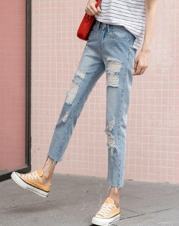 Blue Sequin Women's Jeans