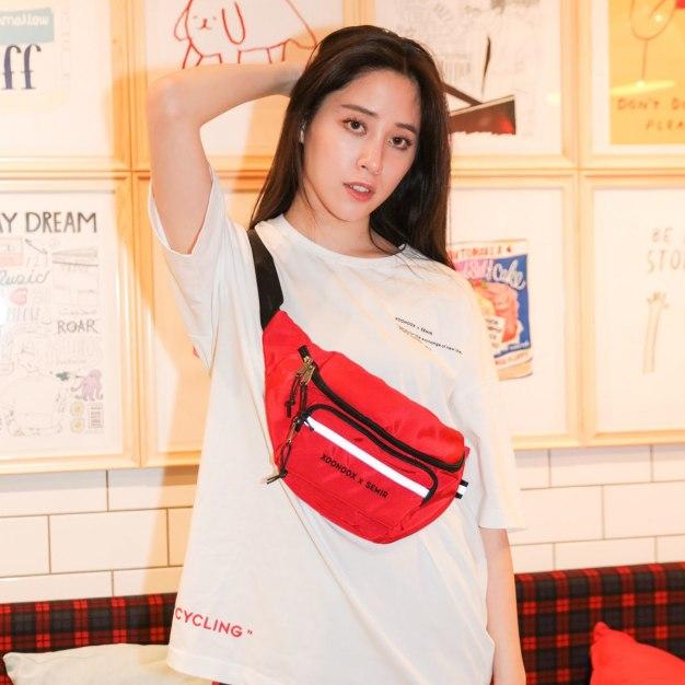 Red Nylon Small Women's Crossbody Bag