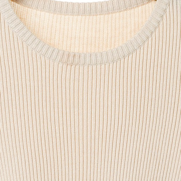 Beige Round Neck Elastic Long Sleeve Fitted Women's Knitwear