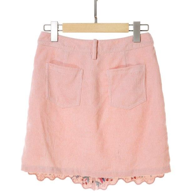 Pink Women's A Line Skirt
