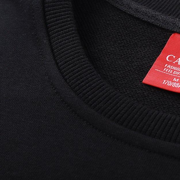 Black Standard Round Neck Men's Sweatshirt