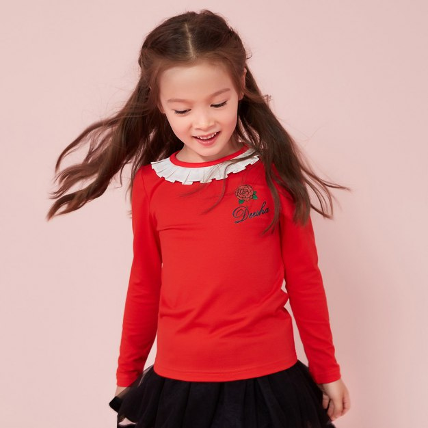 Red Girls' T-Shirt & Polo